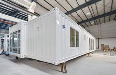 Modern Shipping Container Home This is a 645 sq. modern shipping container modular home called the Kiev by Nova Deco which is an international manufacturer in Australia that builds quality shipping container and modular home… Cargo Container Homes, Container Cabin, Container Buildings, Container Architecture, Container House Design, Architecture Design, Sustainable Architecture, Contemporary Architecture, Modern Modular Homes