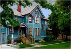 Queen Anne style Victorian home in Marine City, Michigan