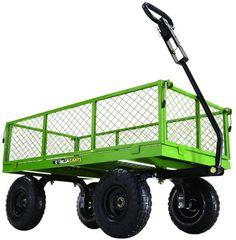 Gorilla Heavy Duty 800 Lb. Capacity Steel Garden Yard Towable Utility Wagon Cart #GorillaCarts