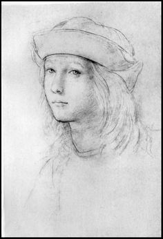 """This is a self portrait of Raphael. I chose this because it shows what he looked like when he was younger and it also shows art.""""Raphael (Self-portrait)"""""""