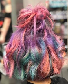 AFTER HOW MANY YEARS OF PINNING COLOURFUL HAIR I FINALLY DID IT LADIES