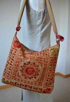 Indian mirrow work Zari embroidered Bag by margoshka on Etsy, $35.00