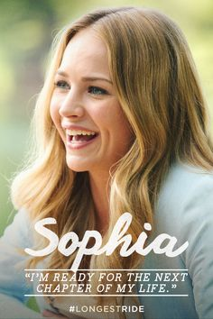 Britt Robertson plays college student Sophia, who is about to embark upon her dream job in New York City's art world. The Longest Ride Quotes, The Longest Ride Movie, Nicholas Sparks Movies, Jessica Parker Kennedy, Britt Robertson, Riding Quotes, Scott Eastwood, She Movie, Brittany Snow