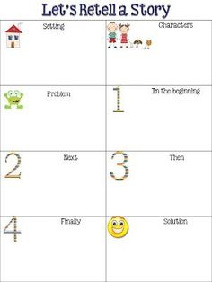 FREEBIE from Fun in First Grade: Retelling Chart. by Becknboys