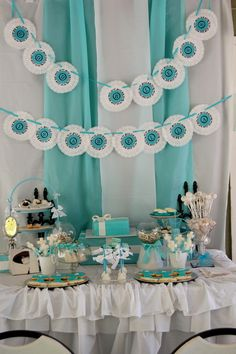 Photo 14 of Tiffanys Party / First Communion Tiffanys Communion Reception Check out the website for Tiffany Blue Party, Tiffany Theme, Tiffany Wedding, First Communion Party, First Holy Communion, Communion Favors, Sweet 16 Parties, Kid Parties, 40th Birthday Parties