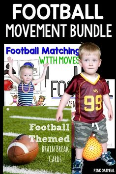 Brain Breaks and Movement Games With A Football Theme.  Great for gross motor.  Football is such a fun theme.  Great for the Fall and Super Bowl!