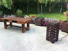 Creaciones de jardín de paletas