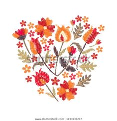 Embroidery Tribal Motifs Bouquet Beautiful Bright Stok Vektör (Telifsiz) 1193937247 Rooster, Bouquet, Bright, Embroidery, Beautiful, Animals, Image, Dragons, Illustrations