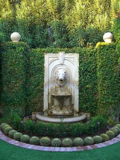 The most important element in sizing a fountain pump is determining the maximal head height rating and maximum lift. The most important element in sizing a fountain pump is determining the maximal head height rating and maximum lift. Formal Gardens, Outdoor Gardens, Formal Garden Design, Garden Fountains, Fountain Garden, Outdoor Fountains, Fountain Ideas, Fountain Design, Backyard Water Fountains