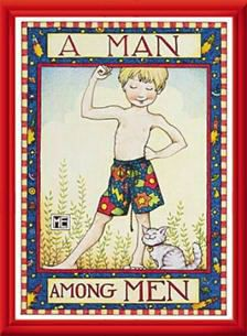 A Man Amon Men... Mary Engelbreit Man Among Men 11x14 Framed Print