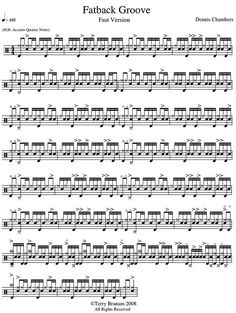 The Fatback Groove as transcribed by Dennis Chambers, the one and only.
