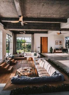 √Rustic and Modern Home Decor Ideas for Classy Elegant Styles Interior Design Living Room Br House, Cosy House, Interior Design Inspiration, Home Interior Design, Interior Architecture, Dream Home Design, My Dream Home, House Design, Sunken Living Room