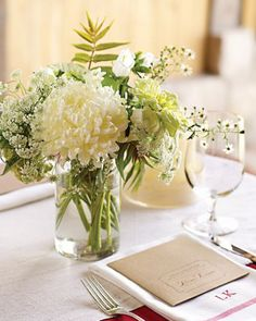 """See the """"Miniature Centerpiece"""" in our White Wedding Centerpieces gallery"""