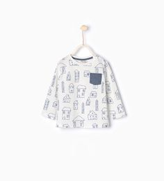 Image 1 of Little houses T-shirt from Zara