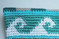 Teil 4 Muster letzte Reihen cal Tasche Sand und Meer von schoenstricken.de