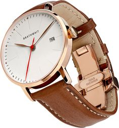010 Automatic Rosegold Marron Perspective