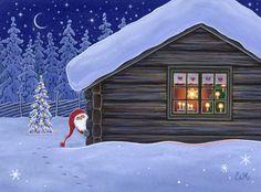 Eva Melhuish - Freelance Illustrator - Artwork for sale - Log Cabin B