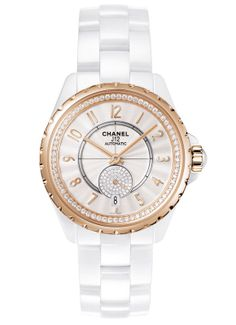 Chanel-J12-365-white-Beige-Gold-Diamonds céramique