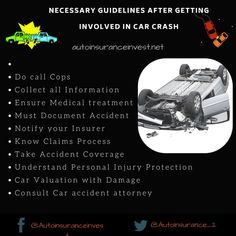 What are the things that I should do after getting involved in any accident? Auto Insurance Invest explains in details about the the step-by-step to-dos after Car Insurance Claim, Cheap Car Insurance, Personal Injury Protection, Car Quotes, Accident Attorney, Auto News, Medical