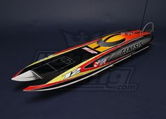 Genesis Offshore Brushless RC Twin Hull  A fiberglass hull perfectly finished and weighted as well as a powerful 100A brushless motor make this a seriously fast R/C boat.