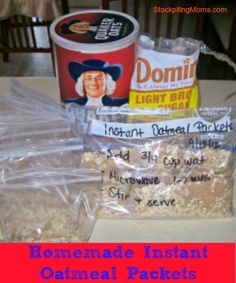 Homemade Instant Oatmeal Packets are AMAZING!  By making your own homemade instant oatmeal packet you will save yourself a ton of money!  Yo...