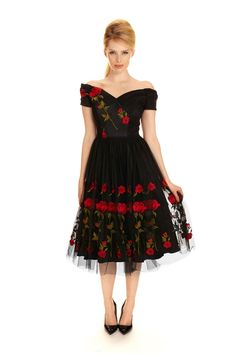 The Pretty Dress Company Fatale Embroidered Prom Dress