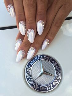nails, pearl, and sheen image