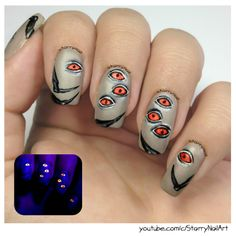 Spider Eyes [Freehand Nail Art]