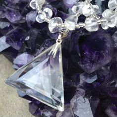 The three sides of the triangle pendant on the Sacred Quartz Crystal Necklace represent love, faith and charity. This John of God necklace has been strongly energized for protection, healing and positive energy.