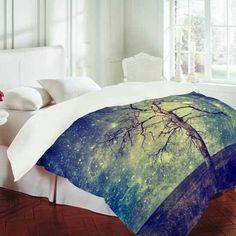 Starry tree comforter.