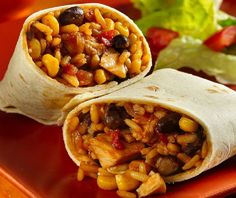 Chicken Bean Burritos