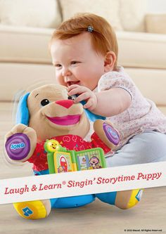 Give the gift of song, dance, and play with the Laugh & Learn Singin' Storytime Puppy. #Playtime #Toys