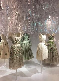 More divinities from the #Dior @dior retrospective at the #Museedesartsdeco #paris here #ChristianDior himself #rafSimons and #marcBohan @voguemagazine