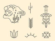 dribbblepopular:  Southwest Illustrations Original: http://ift.tt/R0HkjL: