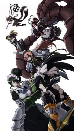 Overlord (Anime),Anime,Аниме,Yuri Alpha,CZ Delta,Narberal Gamma,Solution Epsilon,Entoma Vasilissa zeta,Lupusregina Beta
