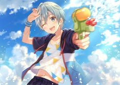 Anime Drawings Sketches, Cute Drawings, Karma Y Nagisa, Cute Couple Art, Anime Child, Anime Boys, Kawaii Chibi, Beach Kids, Cute Anime Boy