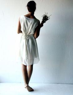 f1a13b48471e Lisianthus ~ Short Tunic Wedding Dress - Larimeloom Handmade Clothing  Bohemian Wedding Dresses