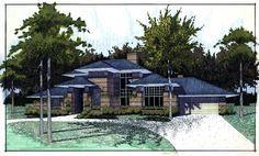 Contemporary Prairie Style Southwest House Plan 65844 Elevation