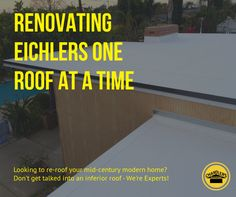 www.chandlersroofing.com :: We are Los Angeles and Orange County's leading mid-century modern (MCM) roof renovation company. Do not be mislead by inferior roofers who do not understand the unique requirements of a post and beam architecture and the need for highly reflective and insulated roofing systems. Ponding water? We have you covered!
