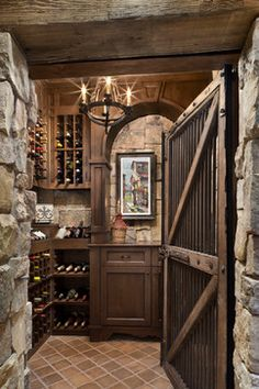 Jobs Peak Ranch Residence rustic wine cellar - worlds best cold cellar!