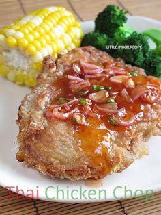 Little Inbox Recipe ~Eating Pleasure~: Thai Chicken Chop (Air-Fryer Recipe)