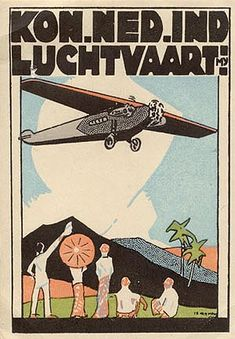 Luggage label for KLM Royal Dutch Airlines, circa 1929