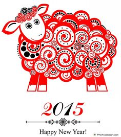 chinese new year 2015 2015 new year card with red sheep chinese new year party