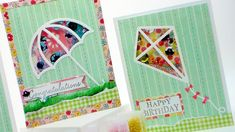 cardmaking video tutorial: How To Make a Kite Shaker Card with dies from Simon Says Stamp! ... luv her light-hearted style ...