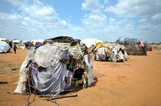 Inside the Dadaab refugee camp in Kenya.