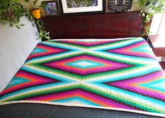 Looking for your next project? You're going to love Modern Bohemian Blanket- Large size by designer PrettyPeaceful.