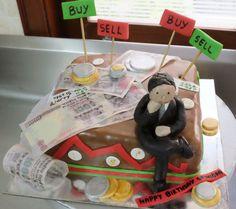 Stock Market Theme Cake