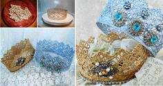 Microwave Lace Crowns Tutorial