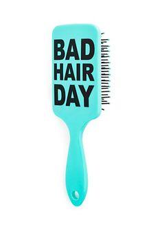 image of Bad Hair Day Hair Brush Kawaii Accessories, Hair Accessories, Cute Hairstyles, Braided Hairstyles, Curly Hair Styles, Natural Hair Styles, Detangling Brush, Cute Notebooks, Knowledge Is Power