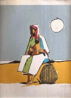 Mãe e filho,  de Carybé - [Pinacoteca ©Carybé]  http://4.bp.blogspot.com/-vWYIIuF9eMY/U2_kav12mAI/AAAAAAAAOK8/q9E0XjR2w5o/s1600/M%C3%A3e+e+filho,+de+Caryb%C3%A9.jpg